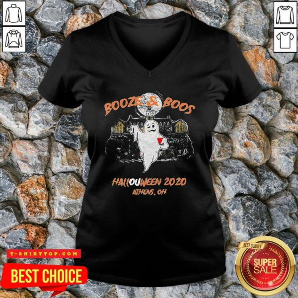 Booze & Boos Halloween 2020 Athens Oh V-neck