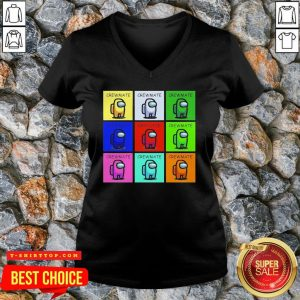Cute Among Us Impostor And Crewmates V-neck