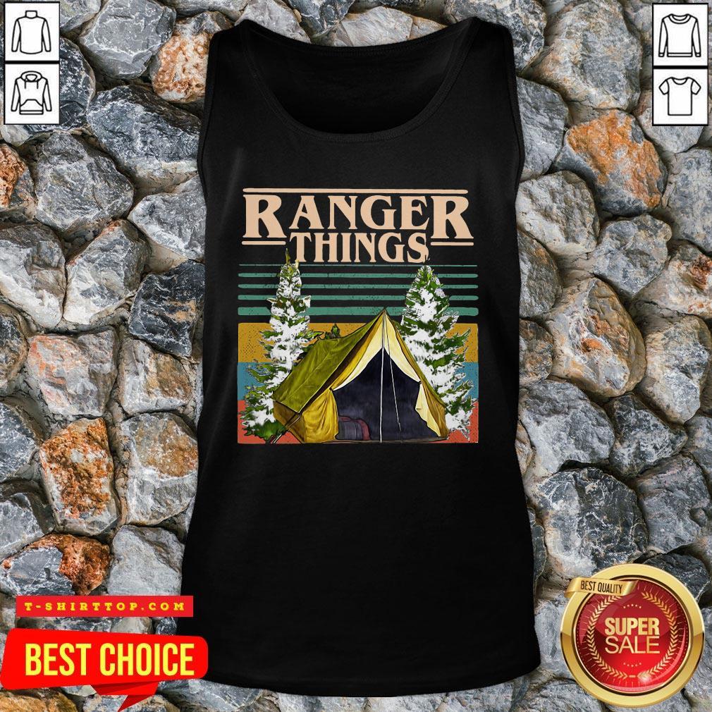 Good Camping Ranger Things Stranger Things Vintage Tank Top