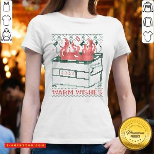 Warm Wishes Dumpster Fire V-neck