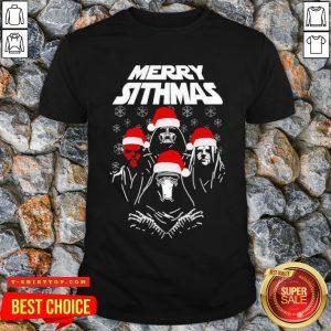 Nice Darth Vader Santa Hat Merry Sithmas Christmas Shirt Design By T-shirtbear.com