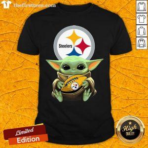 Original Pretty Star Wars Baby Yoda Hug Pittsburgh Steelers Shirt