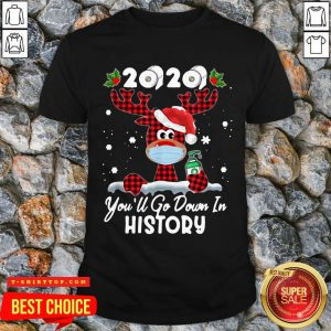 Perfect Christmas 2020 You'll Go Down In History Shirt