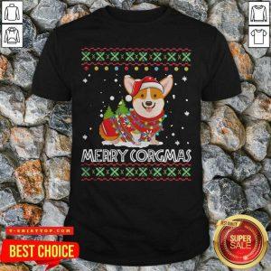 Official Corgi Dog Merry Corgmas Santa Corgi Ugly Christmas Shirt