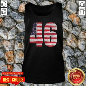 Joe Biden 46 Us Flag Elected Celebrate Joe Biden 46th President 2020 Tank Top