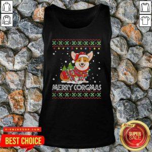 Official Corgi Dog Merry Corgmas Santa Corgi Ugly Christmas Tank Top