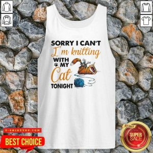 Sorry I Can't I'm K - Design by Tshirttopitting With My Cat Tonight Cat Funny Tank Top
