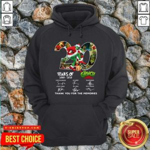 20 Years How The Grinch Stole Christmas Thank You For The Memorie20 Years How The Grinch Stole Christmas Thank You For The Memories Signatures Shirts Signatures Hoodie - Design by Tshirttop