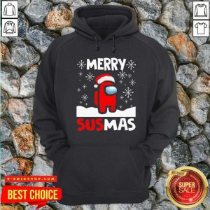 Among Us Merry Sus-mas Christmas Hoodie - Design by Tshirttop