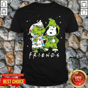Baby Grinch And Snoopy Friends Merry Christmas Light Shirt - Design by Tshirttop