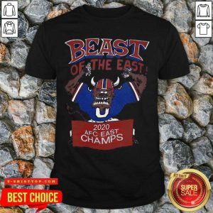 Beast Of The East 2020 Afc East Champs Shirt - Design by Tshirttop