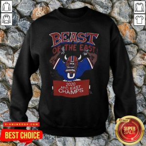 Beast Of The East 2020 Afc East Champs SweatShirt - Design by Tshirttop