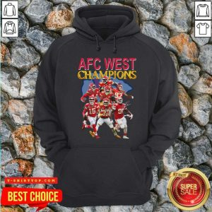 Kansas City Chiefs AFC West Champions Signatures Hoodie - Design by Tshirttop
