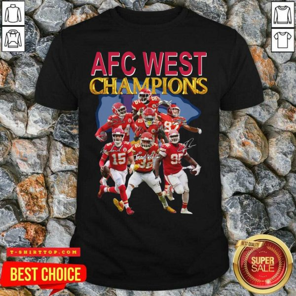 Kansas City Chiefs AFC West Champions Signatures Shirt - Design by Tshirttop