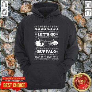 Let Go Buffalo Bills Ugly Christmas Hoodie - Design by Tshirttop