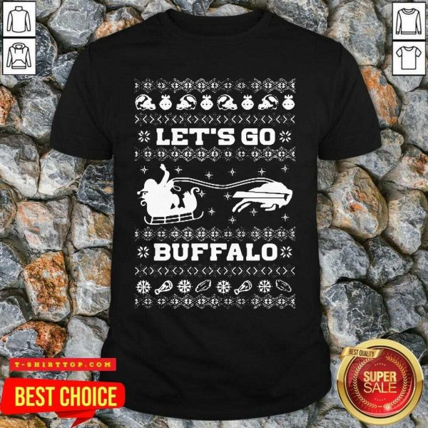 Let Go Buffalo Bills Ugly Christmas Shirt - Design by Tshirttop