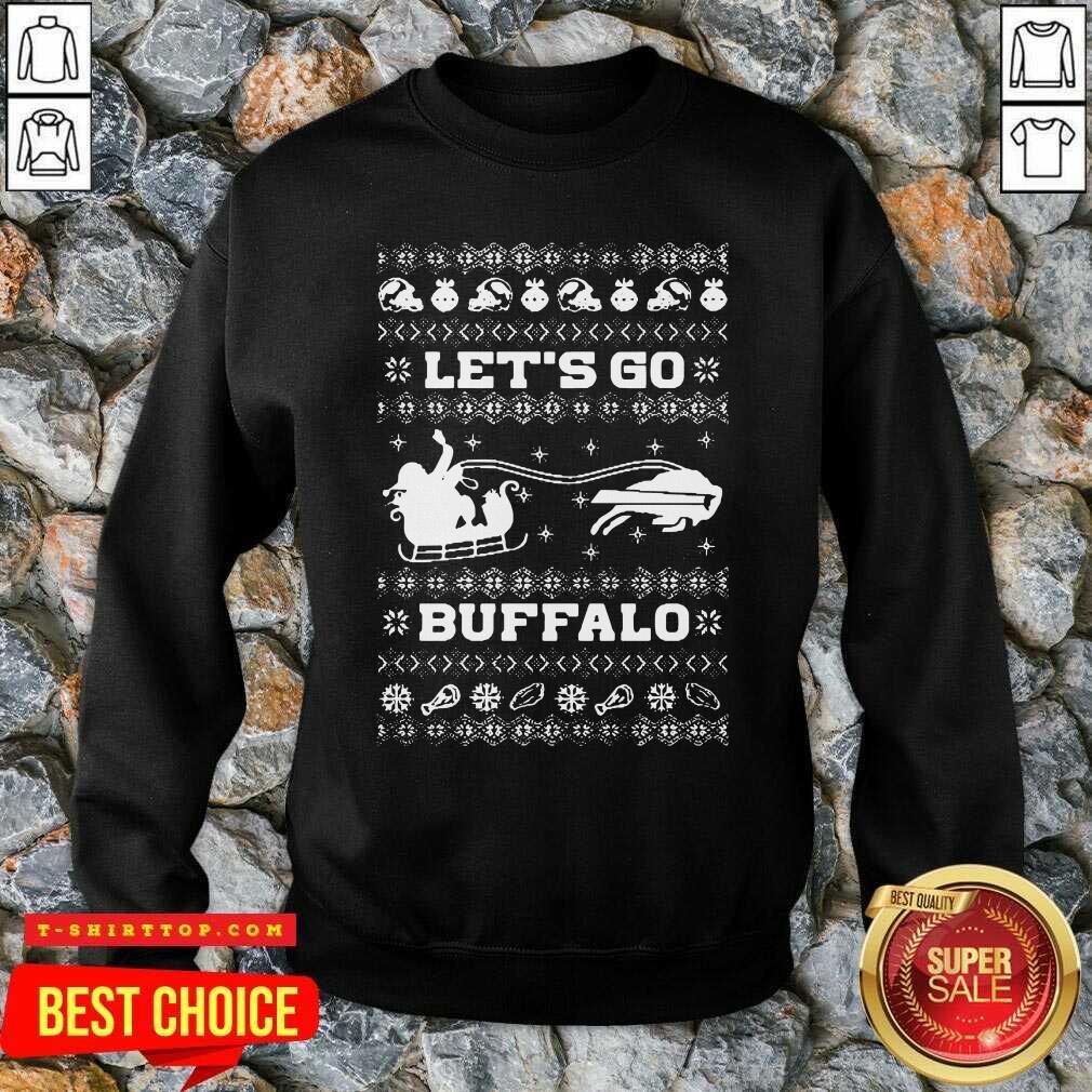 Let Go Buffalo Bills Ugly Christmas SweatShirt - Design by Tshirttop