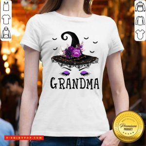 Nice Grandma Witch Hat Halloween V-neck - Design by Tshirttop