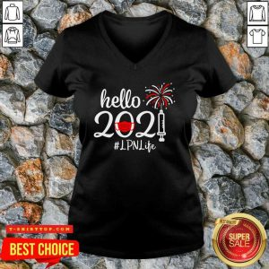 Nice Hello 2021 LPN Life Face Mask Christmas V-neck - Design by Tshirttop