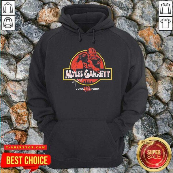 Nice Jurassic Myles Garrett Tee Hoodie - Design by Tshirttop