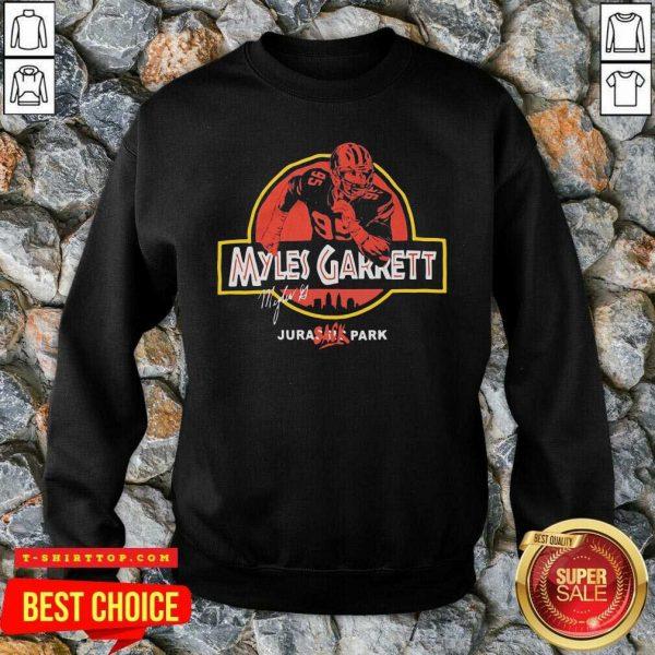 Nice Jurassic Myles Garrett Tee SweatShirt - Design by Tshirttop
