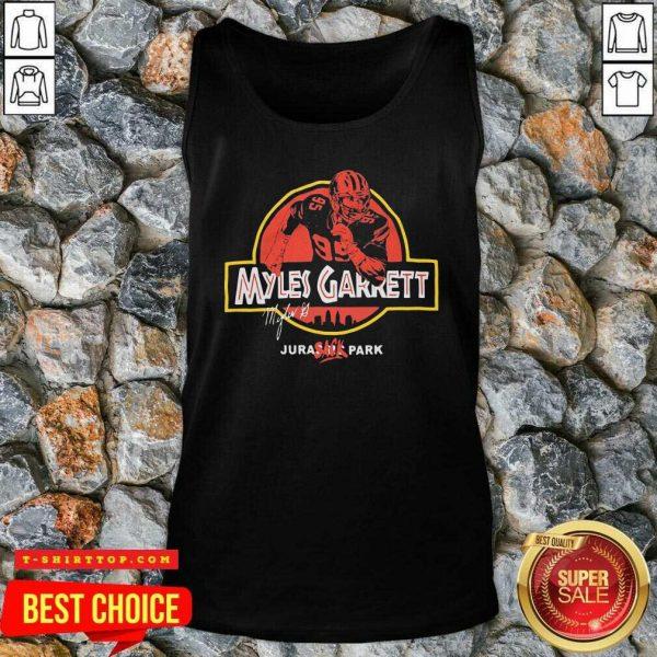 Nice Jurassic Myles Garrett Tee Tank Top - Design by Tshirttop
