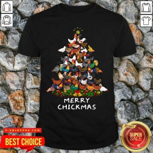 Official Chicken Tree Merry Chickmas Shirt - Design by Tshirttop