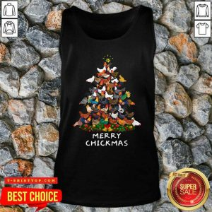 Official Chicken Tree Merry Chickmas Tank Top - Design by Tshirttop