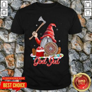 Official Gnome Viking Glaedelig Jul Christmas Shirt - Design by Tshirttop