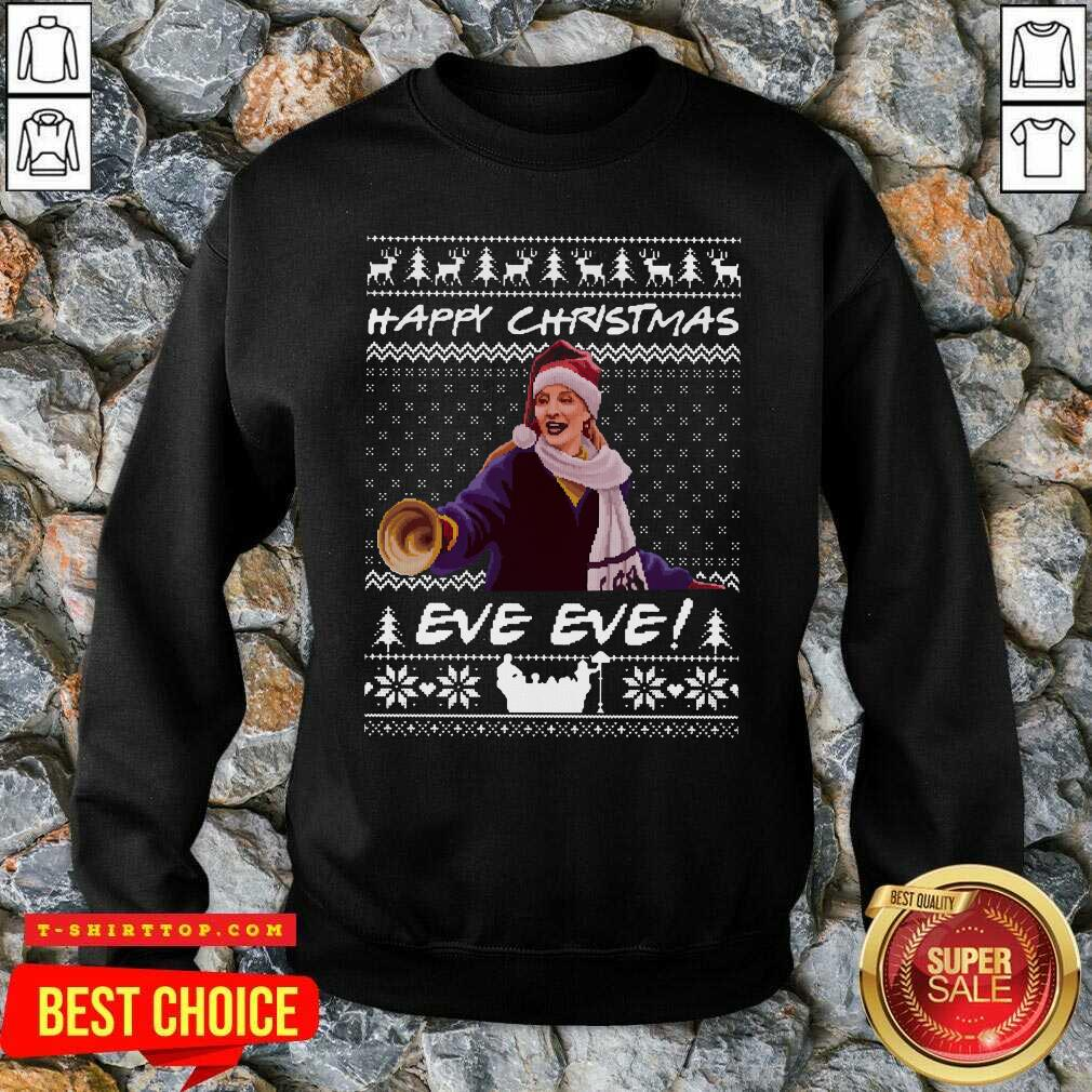 Official Happy Christmas Eve Eve Ugly Xmas SweatShirt - Design by Tshirttop
