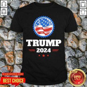 Official Trump 2024 American Flag Shirt - Design by Tshirttop