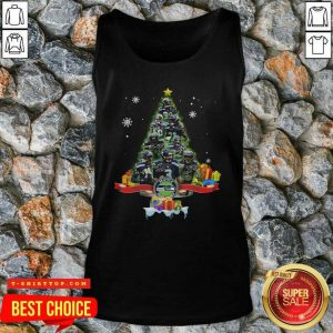 Seattle Seahawks Player Signatures Christmas Tree Tank Top - Design by Tshirttop
