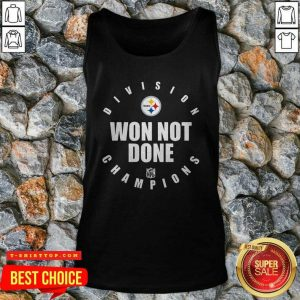 Top Steelers Afc North Champs We Not Done Tank Top - Design by Tshirttop
