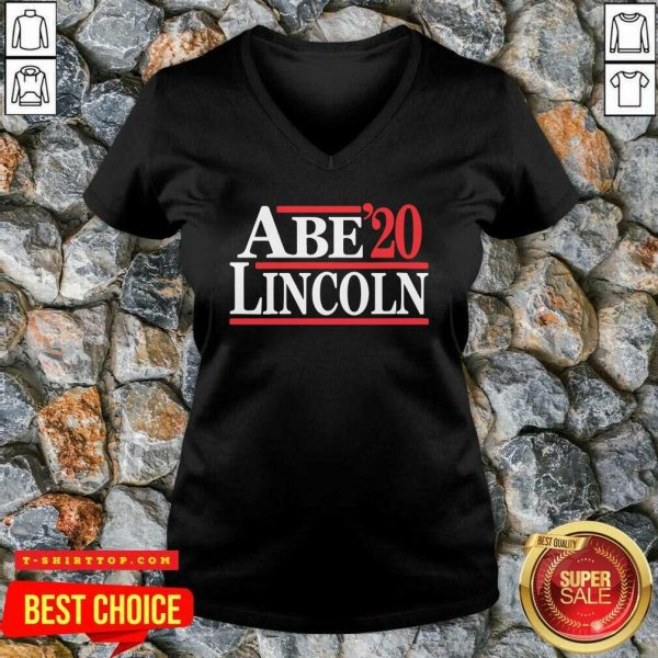 Official Abe Lincoln 2020 Election V-neck - Design by Tshirttop