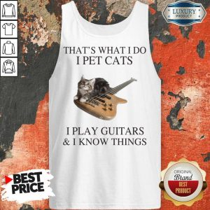 Arrogant Cats I Play Guitars And I Know 1 Tank Top
