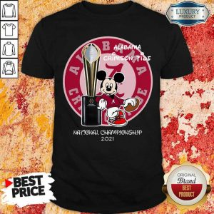 BoredMickey Mouse Alabama National Championship 2021 Shirt