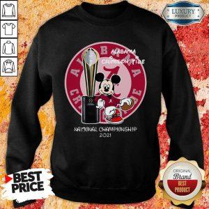BoredMickey Mouse Alabama National Championship 2021 Sweatshirt