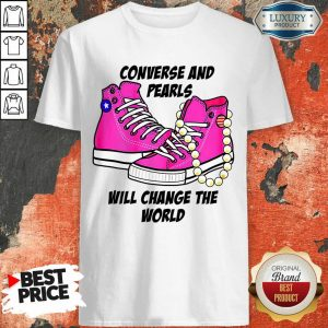Cheated Converse And Pearls Will Change The World 5 Kamala Harris Shirt - Design by T-shirttop.com
