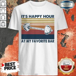 Embarrassed Its Happy 1 Hour At My Favorite Bar Vintage Retro Shirt - Design by T-shirttop.com