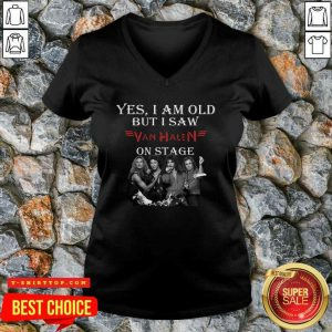Good Yes I Am Old But I Saw Van Halen On Stage V-neck - Design by Tshirttop