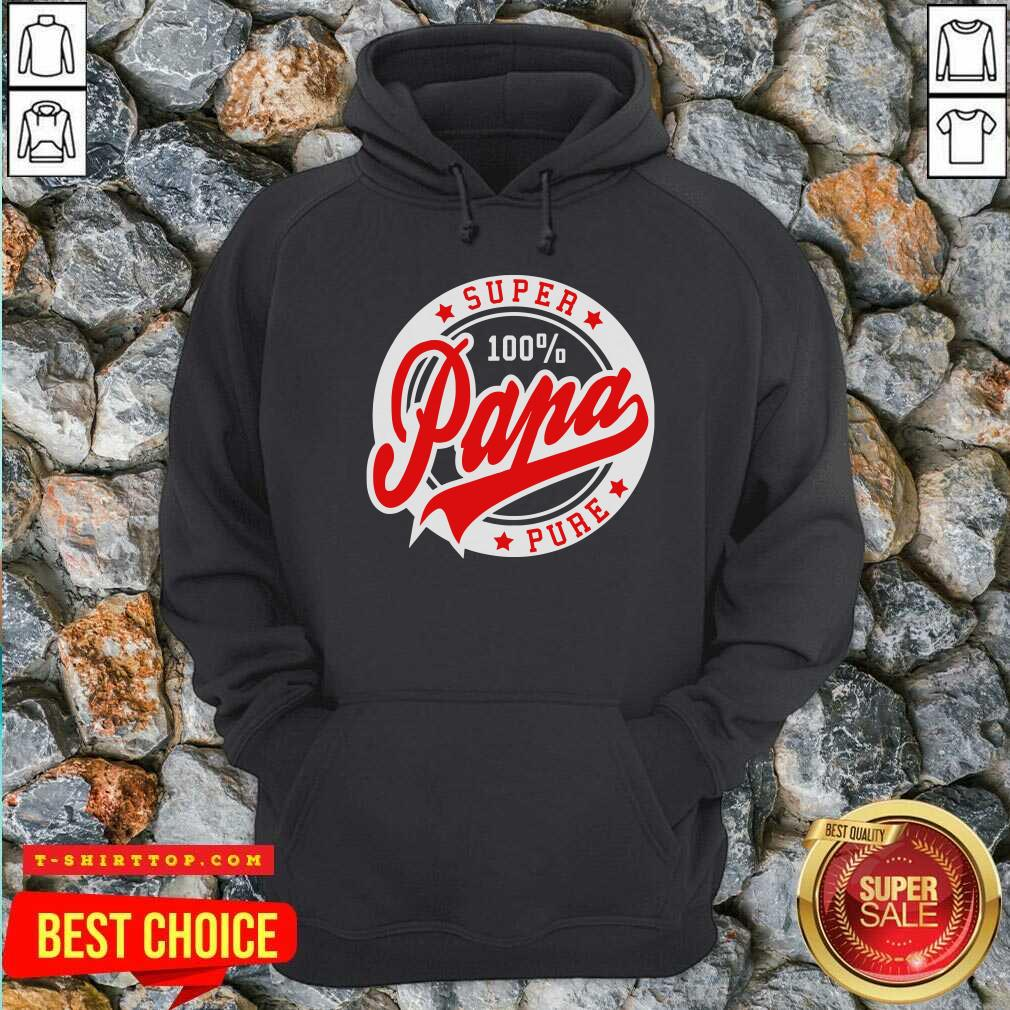 Nice Super Papa 100 Percent Pure Stars Seal Hoodie - Design by Tshirttop