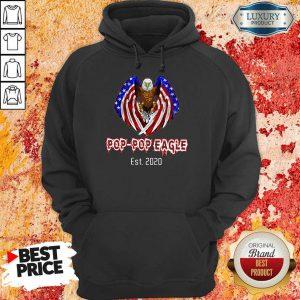 American Flag Pop-Pop Eagle 2020 Hoodie