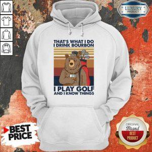 Bear I Drink Bourbon I Pay Golf Hoodie