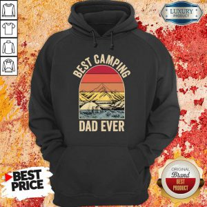 Best Camping Dad Ever Fathers Day Mountain Vintage Hoodie