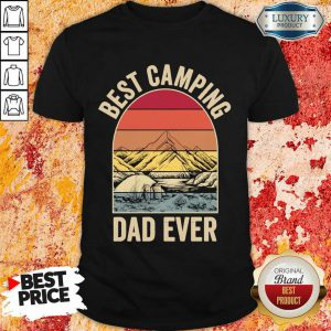Best Camping Dad Ever Fathers Day Mountain Vintage Shirt