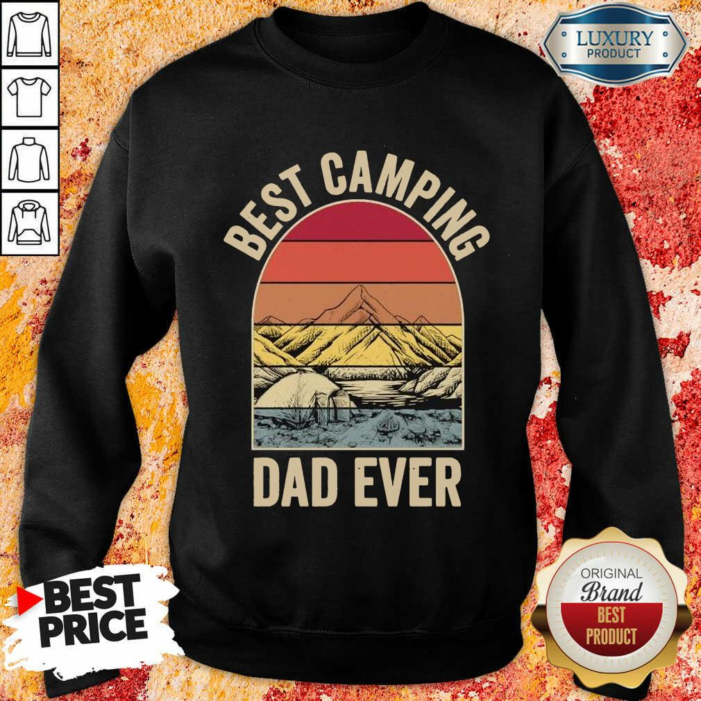 Best Camping Dad Ever Fathers Day Mountain Vintage Sweatshirt