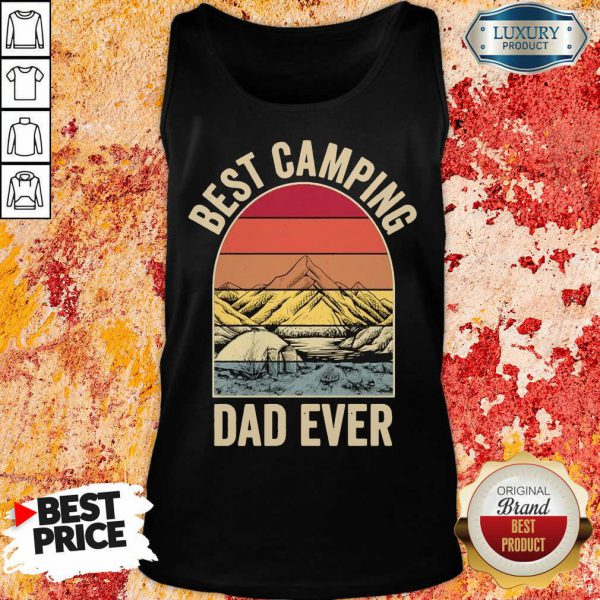 Best Camping Dad Ever Fathers Day Mountain Vintage Tank Top