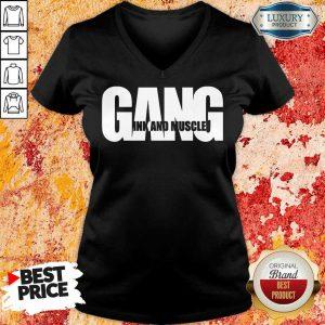 Gang Ink And Muscle Logo V-neck