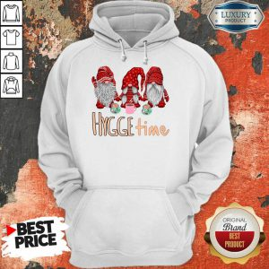 Gnomes Red Hygge Time Hoodie