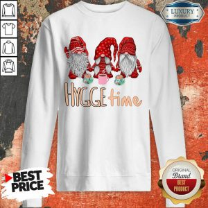 Gnomes Red Hygge Time Sweatshirt